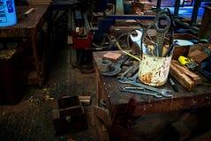 木匠工具 免版税库存照片