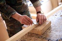 木匠措施 免版税库存图片