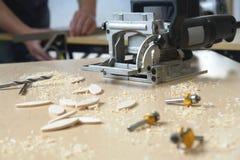 木匠木匠业工具 免版税库存图片