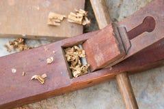 木匠木匠业飞机用工具加工讨论会 库存图片