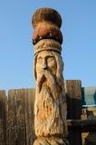 轴木匠木雕塑的结构树 库存照片