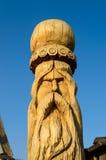 轴木匠木雕塑的结构树 库存图片