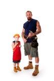 木匠父亲儿子 免版税库存图片