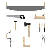 木匠用工具加工向量 免版税图库摄影