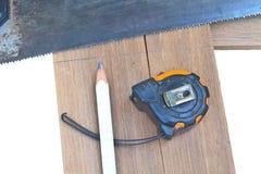 木匠的工具 免版税库存照片