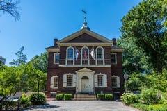 木匠的霍尔在费城的历史的区 免版税库存图片