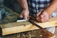 木匠Craftman木材木材木制品概念 库存照片