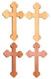 木十字架3D集合 库存图片