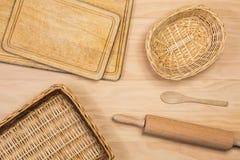 木厨具 免版税库存图片