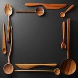 木厨房器物框架  免版税库存图片