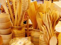木厨房器物 图库摄影