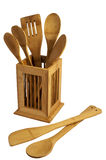 木厨房的器物 库存照片