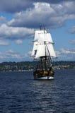 木双桅船,华盛顿夫人, 免版税图库摄影