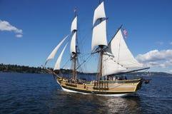 木双桅船,华盛顿夫人 库存照片