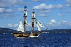 木双桅船,华盛顿夫人 图库摄影