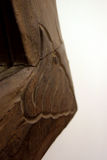 木变老的框架 免版税库存照片