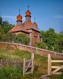木古老的教会 图库摄影