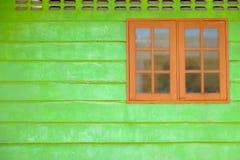 木古老的视窗 免版税库存照片