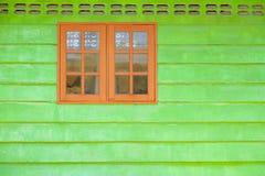 木古老的视窗 库存照片