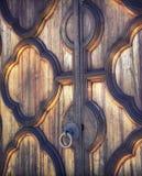 木古老的门 库存照片