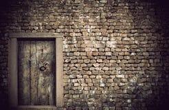 木古老的门 免版税图库摄影