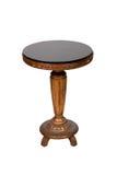 木古色古香的圆桌 免版税库存照片