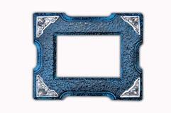 木古色古香的框架的照片 免版税图库摄影