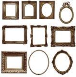 木古色古香的框架 库存图片