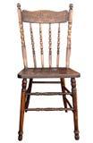 木古色古香的椅子 图库摄影