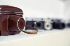木古色古香的照片照相机 免版税库存图片