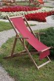木可折叠庭院椅子 库存图片