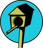 木可用的鸟文件房子杆的向量 免版税库存图片