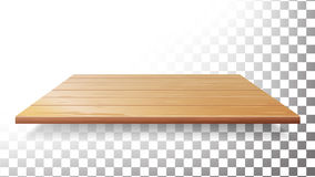 木台式,地板,墙壁架子传染媒介 被隔绝的现实木纹理 皇族释放例证