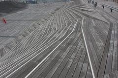 木台阶步 免版税库存照片