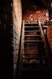 木台阶 库存照片