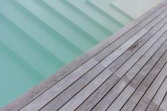 木合并纹理的平台和台阶 免版税库存图片