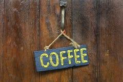 木咖啡标签 库存照片