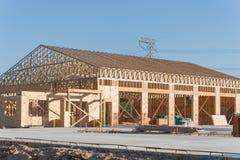 木商业楼房建筑 库存照片