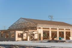 木商业楼房建筑 库存图片