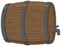 木啤酒小桶的喷口 库存例证