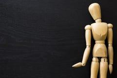 木图人体模型人的艺术家凹道绘画木头玩偶 免版税库存图片