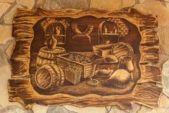 木图片葡萄酒酿造 库存照片