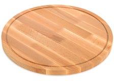 木圆的切板,手工制造木切板 库存图片