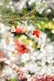 木圣诞树装饰 库存图片