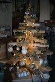 木圣诞树 图库摄影