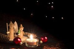 木圣诞节形象 免版税库存图片