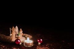木圣诞节形象 库存图片