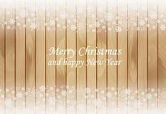 木圣诞节背景 免版税库存图片