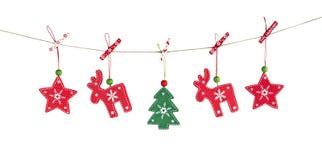木圣诞节装饰 库存图片