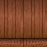 木地板和木头墙壁 免版税图库摄影